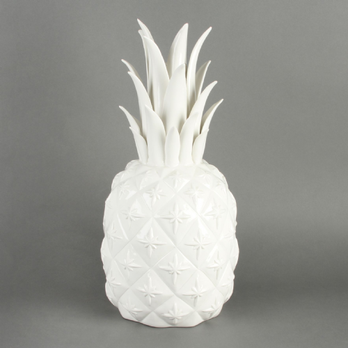 Giant White Porcelain Pineapple Ornament and Vase